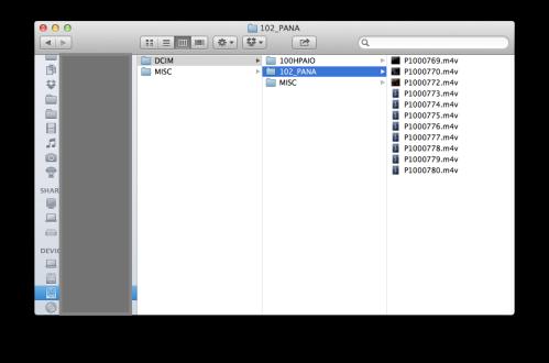 Folders to create
