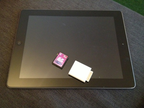 iPad and SD card