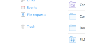 DropBox file request
